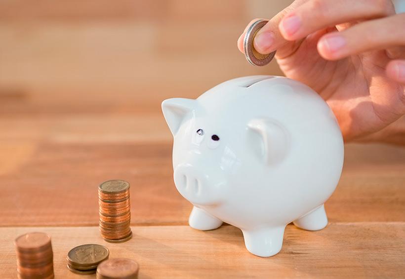 Alcancía para ahorro de dinero