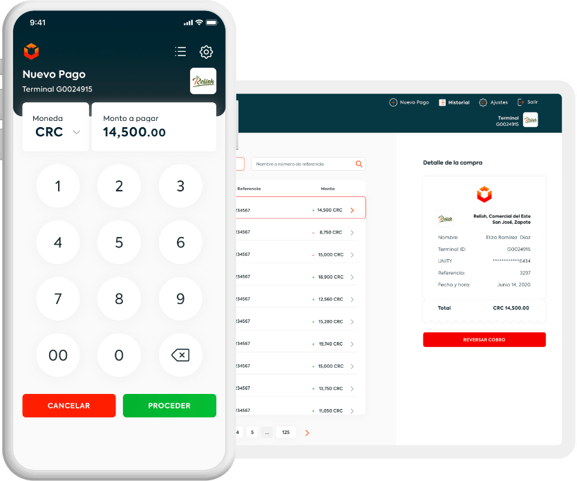 Celular mostrando un pago electrónico